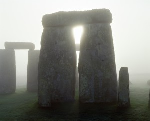 Stonehenge in the mist