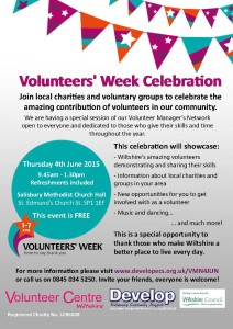 Volunteers' Week Celebration 4JUN Flyer